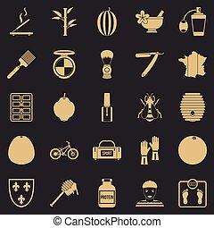セット, 単純である, スタイル, 香水, アイコン