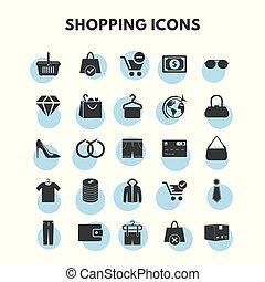 セット, 買い物, アイコン