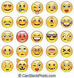 セット, emoticons., emoji