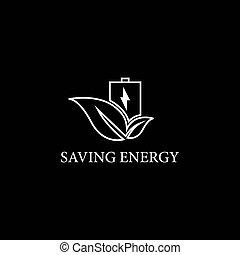 セービング, エネルギー, ロゴ, テンプレート
