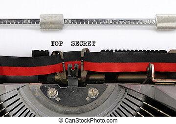 タイプライター, トップの秘密, テキスト