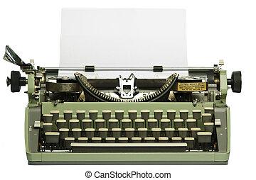 タイプライター, ペーパー, レトロ, ブランク