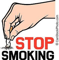 タバコ, 消すこと, 手