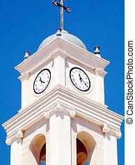 タワー, ピーター, st., 時計, 教会, jaffa, 2011