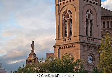 タワー, mary, 像, 神聖, 教会