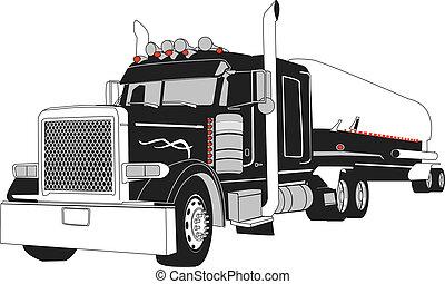 タンカー トラック, 半