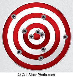 ターゲット, 弾丸 穴, 銃, 範囲, 射撃