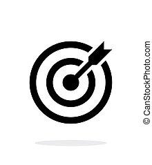 ターゲット, shoot., 成功した, 目標, バックグラウンド。, さっと動く, 白, アイコン