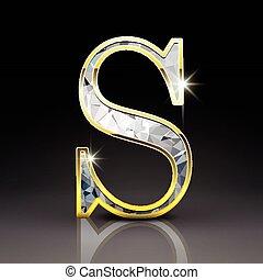 ダイヤモンド, 手紙 s, 素晴らしい, 3d