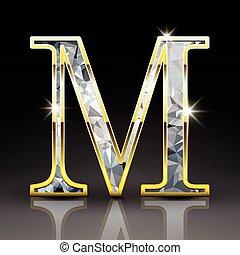 ダイヤモンド, m, 3d, 手紙, 素晴らしい