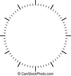 ダイヤル, 時計, 黒, サイン