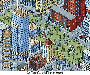 ダウンタウンに, 都市現場