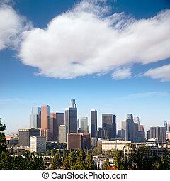 ダウンタウンに, la, アンジェルという名前の人たち, los, スカイライン, カリフォルニア
