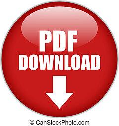 ダウンロード, pdf, ボタン, ベクトル