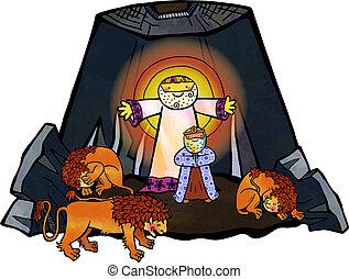 ダニエル, ライオン, すみか