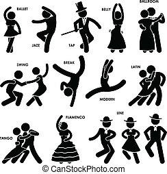 ダンサー, ダンス, pictogram