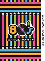 ダンス, パーティー, 80 年代, ポスター