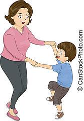 ダンス, 母, 息子