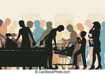 チェックアウト, スーパーマーケット