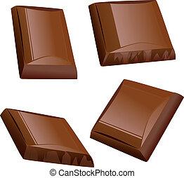 チョコレート, 小片
