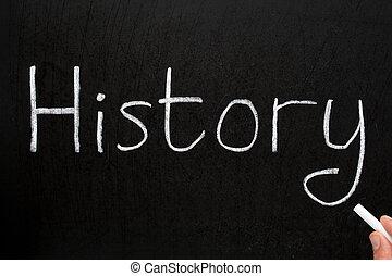 チョーク, 歴史, 書かれた, blackboard., 白