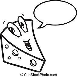 チーズ, スピーチ, 漫画, 泡