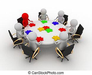 チームワーク, ミーティング, ビジネス