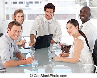 チーム, ビジネス, 仕事, multi, culutre, 若い