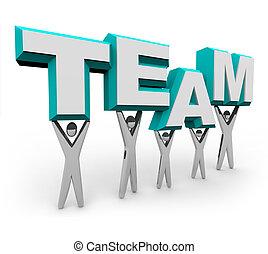 チーム, 単語, 持ち上がること, 人々