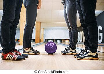 チーム, 車線, ボール, 靴, 家, フィート, ボウリング