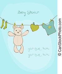 テキスト, シャワー, ベクトル, 場所, 赤ん坊, あなたの, カード