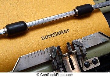 テキスト, newsletter, タイプライター