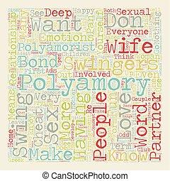 テキスト, wordcloud, 概念, polyamory, 背景