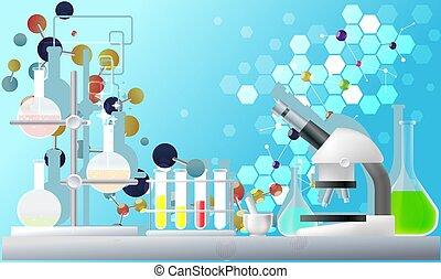 テスト, 光景, 実験室, 背景, 科学, 抽象的なデザイン