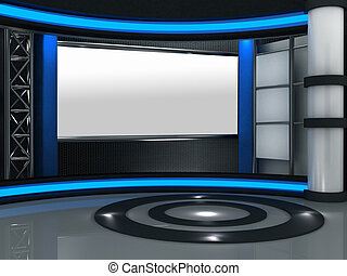 テレビ, スタジオ, 事実上, 3d