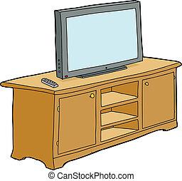 テレビ, 隔離された, キャビネット