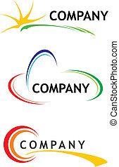 テンプレート, ロゴ, 企業である