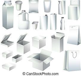 テンプレート, 包装, 箱, ペーパー, びん