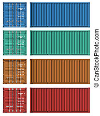 テンプレート, 貨物, セット, 容器