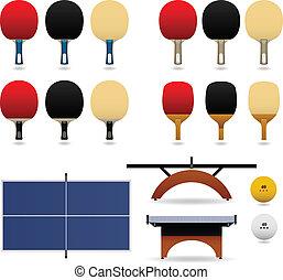 テーブル, ベクトル, セット, テニス