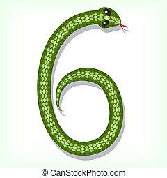 ディジット, ヘビ, font., 6