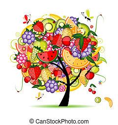 デザイン, エネルギー, 果樹, あなたの