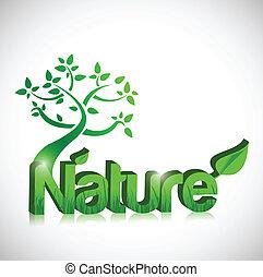 デザイン, 概念, 木, イラスト, 自然