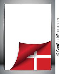 デンマークの旗, 回転しているページ, 国