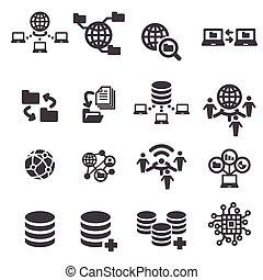 データ, アイコン, tectnology