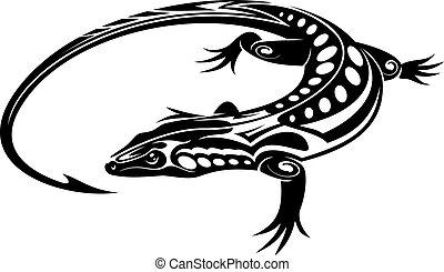 トカゲ, 黒, iguana