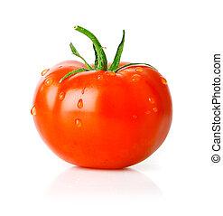 トマト, 緑, フルーツ, 葉, 新たに