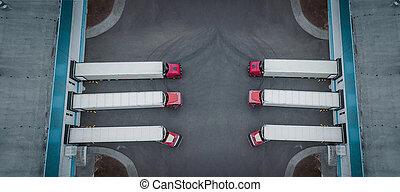 トラック, インターナショナル, ロジスティクス, 平面図, 中心