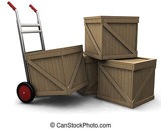 トラック, 木枠, 手