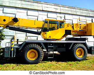 トラック, 機械類, 黄色